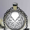 Fashion Kraken Cthulhu Pendant & Necklace Cabochon Vintage Long Sliver Chain Statement Necklace Fine Jewelry