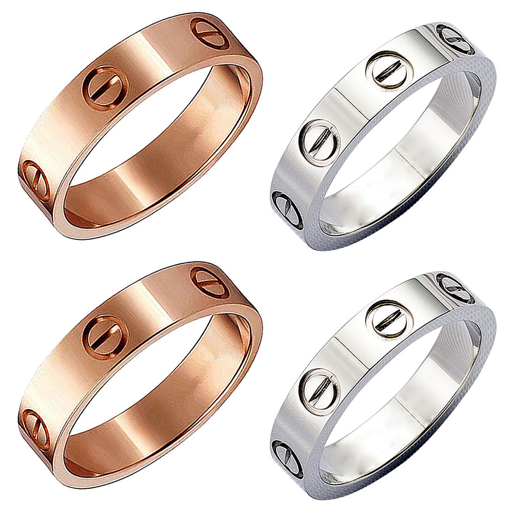 Fashion screw ring rose gold Color Classic Couple carter love Rings for Woman Man Gift Never Fade Co Simple