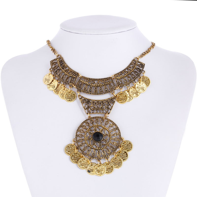 Fine Necklaces & Pendants Collier Femme Bohemia Boho Jewelry Ethnic Antique Silver/Bronze Long Tassels Coins Maxi Necklace
