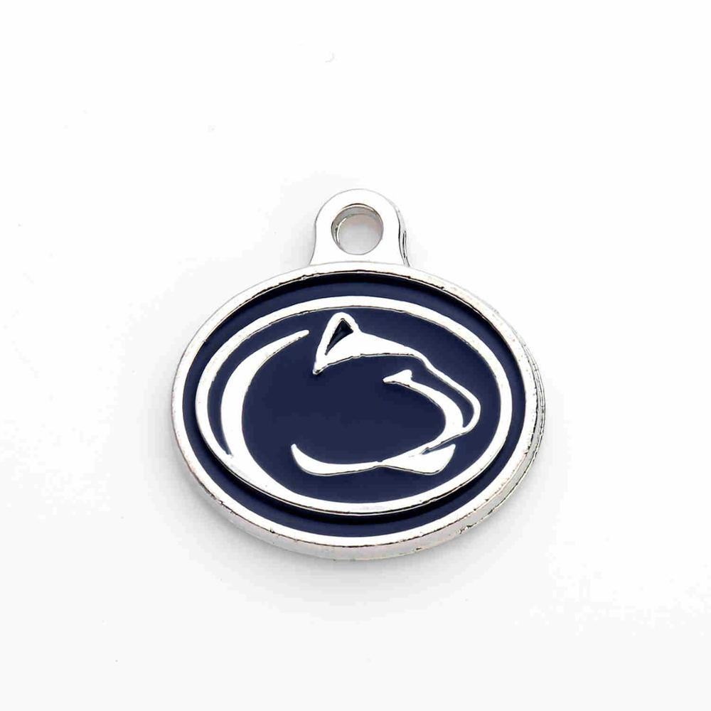 10Pcs/lot Zi Alloy New Design Penn State Nittany Lions College Team Logo Spirit Enamel Charms Jewelry for Fan