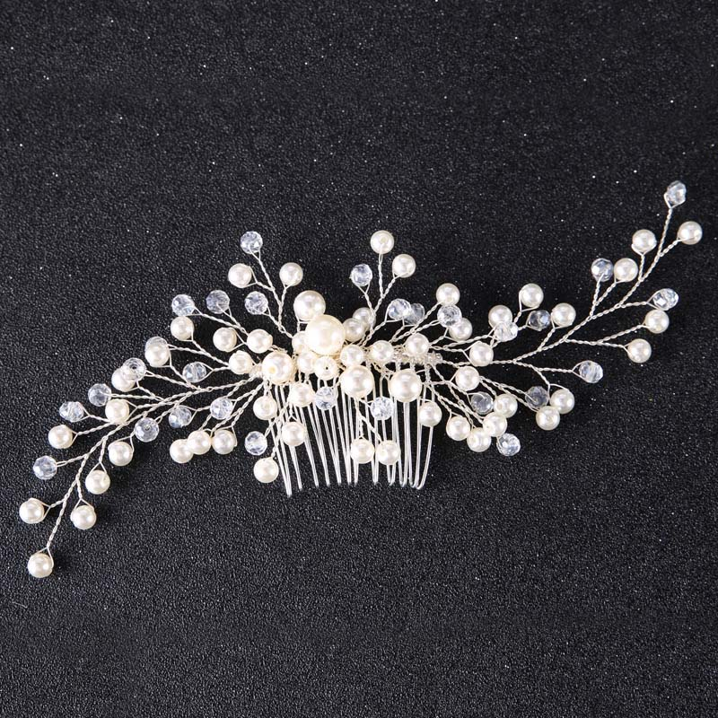 Floral Crystal Hair comb Wedding Hair jewelry Bridal Headpiece Bridesmaid Hair accessories women Handmade bride head piece