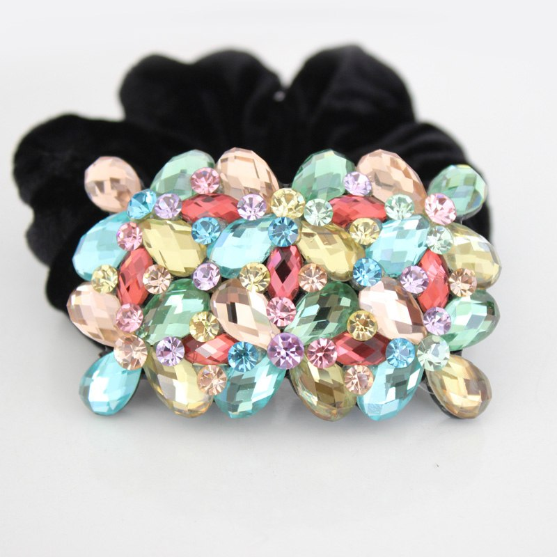 Flower Crystal Rhinestone 90s Hair Accessories Jewelry Ornament Tiara Rope online shop for Women Office Dance Weddding Party