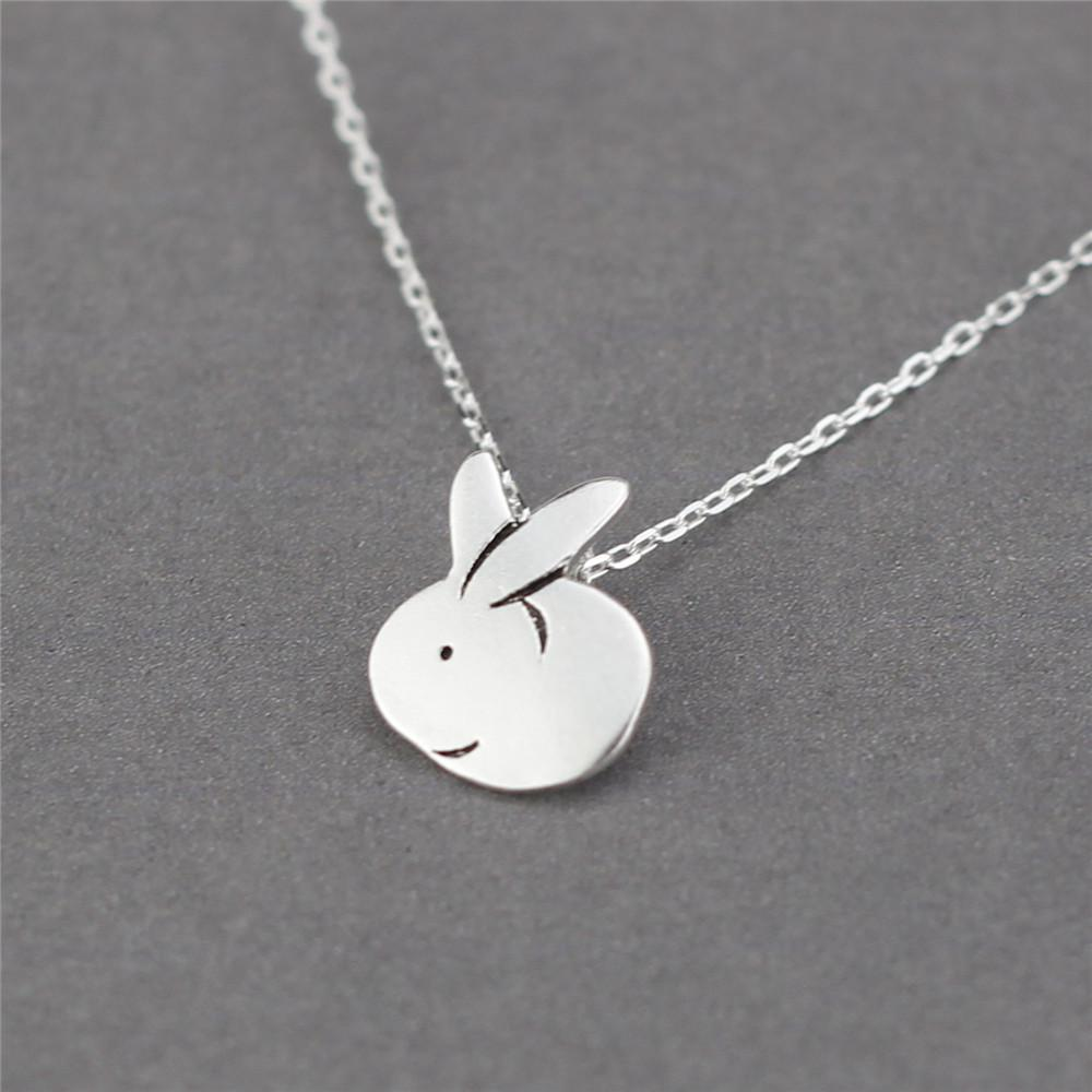 925 Sterling Silver Cute Little White Rabbit Necklaces & Pendants For Women Original Girl Gift Sterling-silver-jewelry