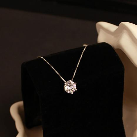 925 Sterling Silver Necklaces & Pendants For Women Fashion Lady Cubic Zirconia Jewelry Accessories