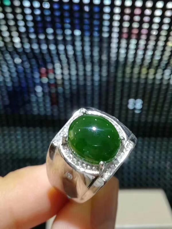 Free shipping Natural Hetian Jade Man Ring 925 sterling silver Wholesales Fine jewelry 10*12mm gem