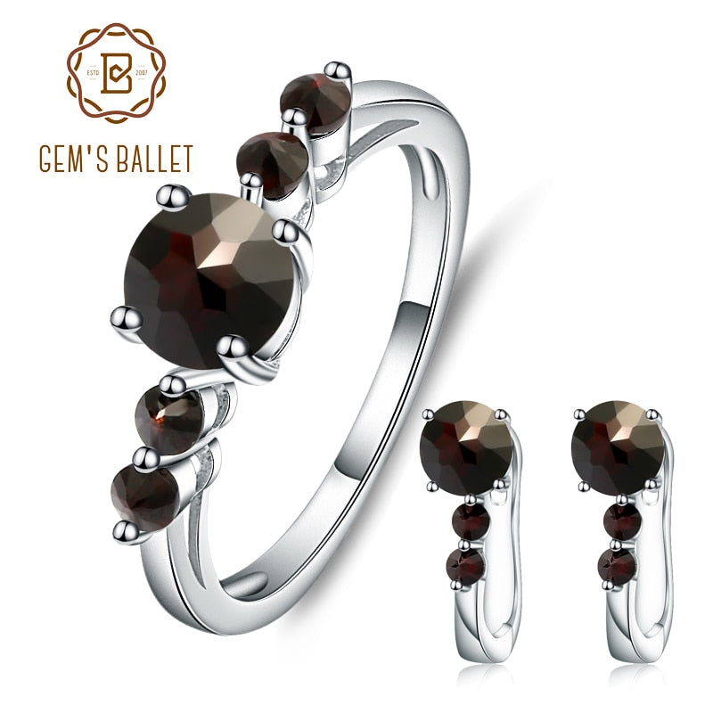 Jewelry Sets For Woman Chocolate White CZ Stones Jewelry Set Earrings Ring 925 Sterling Silver Fashion Fine Jewelry