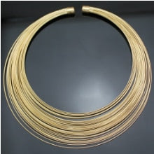 Gold Cleopatra 80s Multilayer Memory Fine Wire Pendant Collar Choker Colar Bib Statement Necklace Women Anime Indian Jewelry