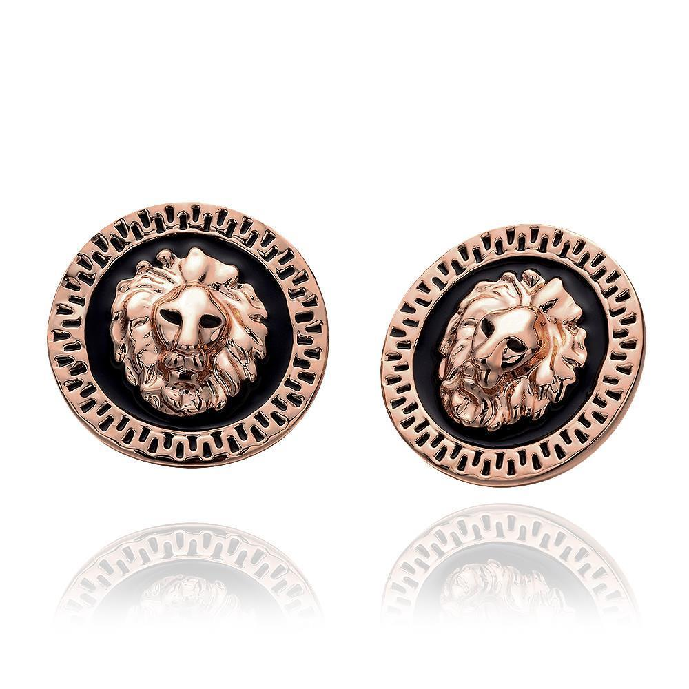 Gold Color Powerful Lion Punk Stud Earrings,European Co Men&Women Jewelry Wanita Cantik Anting Bijoux Online Shopping
