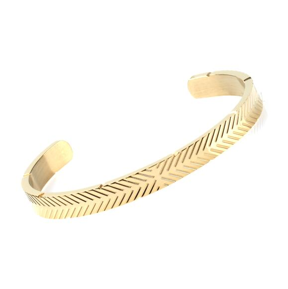 Good Quality Open Stainless Steel Bangles Charm Stripe Arm Cuff Bracelet Men Love Letter Punk Bracelets Titanium Silver Jewelry