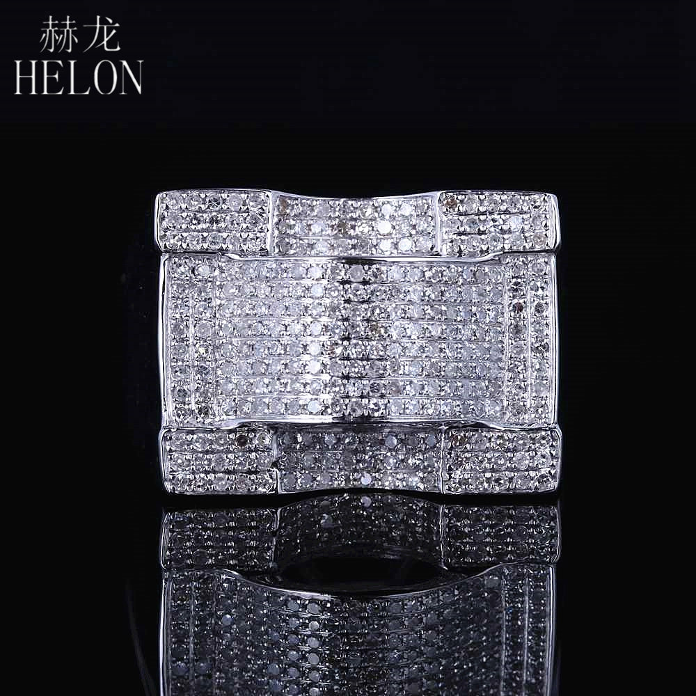 925 Sterling Silver Mens Jewelry Finish Genuine Round Cut Diamond Pave Designer Pinky Band Ring Engagement Mens Ring 1.2ct