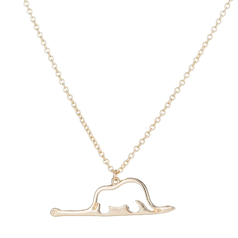 animal cute wholesale Little Prince necklace jewelry Elephant in a snake Charm women child jewelry birthd present Gift