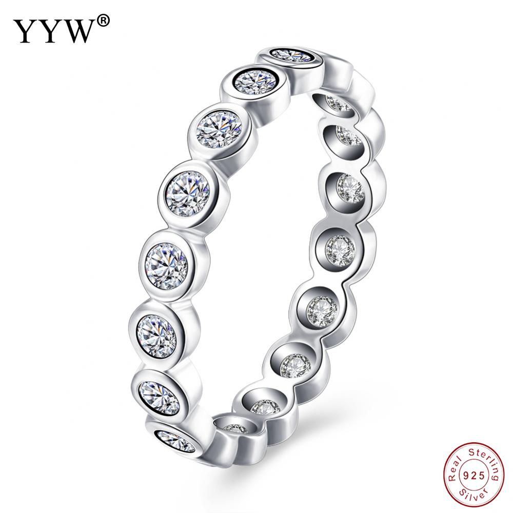 High Quality 100% 925 Sterling Silver Stackable Ring For Women Luxury Original Jewelry Gift