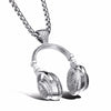 Hop Punk Metal homme Bijoux Trendy Headset Long Necklace Pendant Jewelery Silver Color Personalized Drop Choker