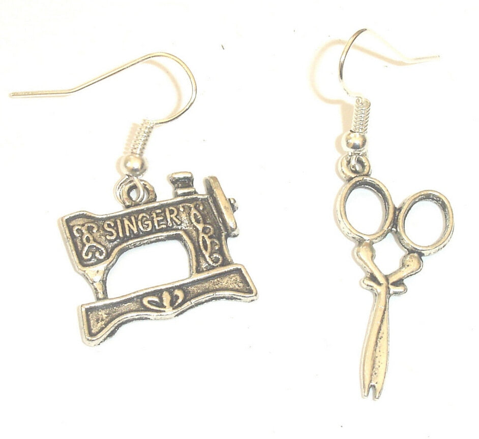 2015-Hot-Fashion-Jewelry-50-Pair-Antique-Silver-Sewing-Machine-Scissors-Charm-Pendants-Drape-Earring-For