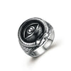 Hot Sale 316L Stainless Steel Eye Finger Ring Vintage Punk Men's Titanium Steel Gift Jewelry drop shipping bague anel