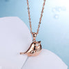Hot Sale 925 Sterling Silver Necklaces Cute Animal Bird Crystal Pendants Necklaces for Women Party Wedding Necklaces Jewelry