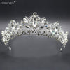 Hot Sale Silver Crystal Wedding Tiara Queen Crown For Summer Women Bride Hair Jewelry Accessories Crown Jewelry Wedding Diadem