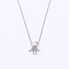 New Arrival Luxury Silver Plated Little Bella Robot Pendant Fine Pandora Necklace for Women Fashion Jewelry Gift