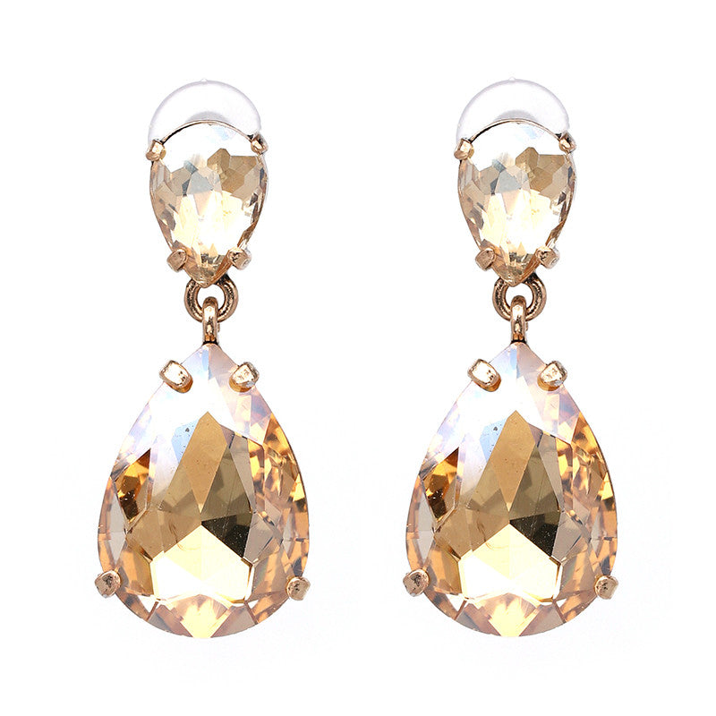 Crystal Dangle Earrings Classic Trendy Water drop Earrings brincos Fashion Statement Jewelry pendientes