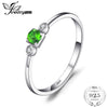 0.15ct Genuine Chrome Diopside White Topaz 3 Stone Ring Spild 925 Sterling Silver Ring for Women Fine Jewelry