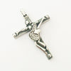 Johnny Hallyd guitar cross pendant necklace men jewelry 316 stainless steel floating locket charms Christian Crucifix