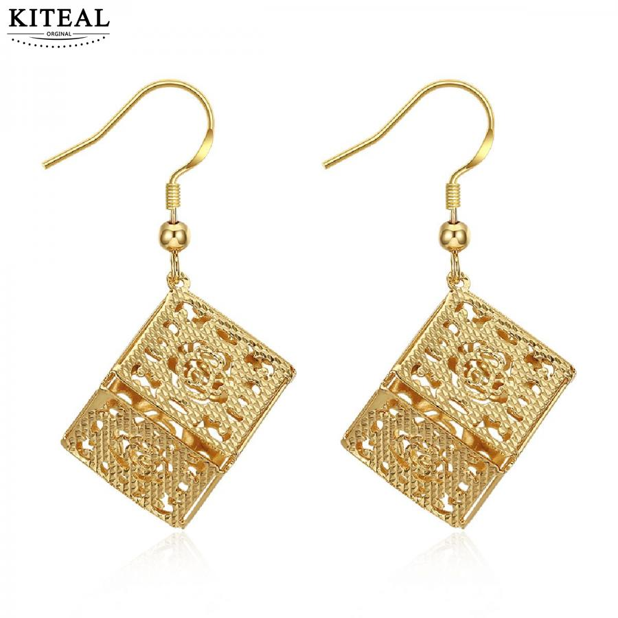 KITEAL online shopping india Gold color Yellow/Rose Yellow color   women earring   big gold jewelry brinco charm
