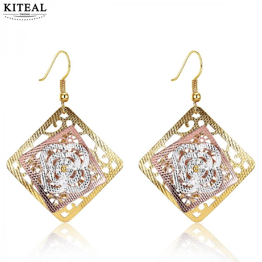 KITEAL online shopping india Gold color     earrings   big gold jewelry boucle doreille femme bijouterie