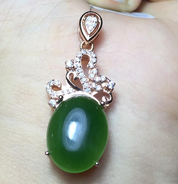 boutique jewelry,Natural Hetian Yushu Necklace Pendant wholesale 925 sterling silver