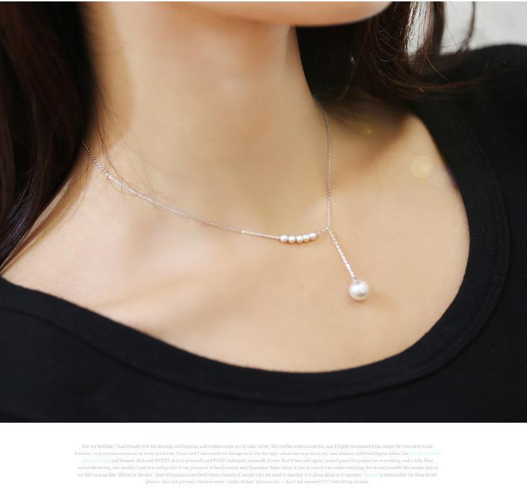 Korean jewelry temperament sweet accessories imitation pearl necklace female clavicle fine chain Statement Necklace Csgo