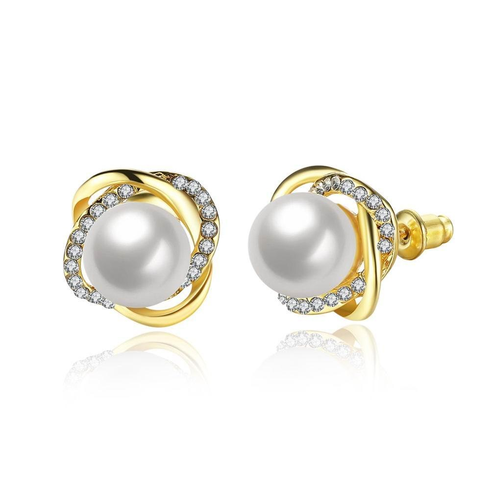 0455ff448 2017 New 925 Sterling Silver Fine Jewelry White Crystal Pearl & Clear Cz Luminous  Love Knots