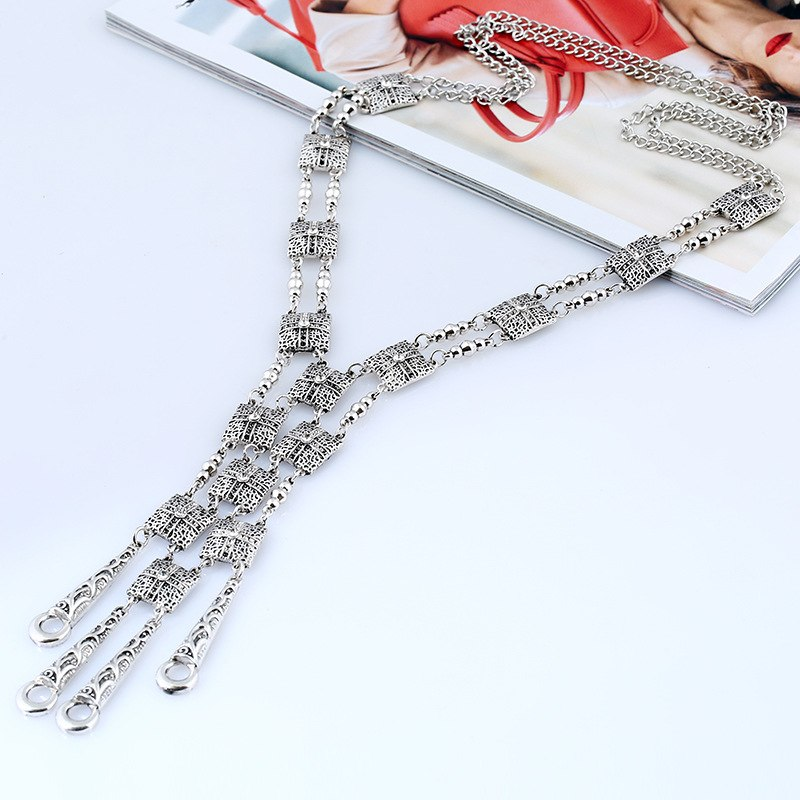 2017 Fashion Bohemian Statement Maxi Long Necklace Collier Colar Vintage Collar Boho Necklace Women Fine Jewelry