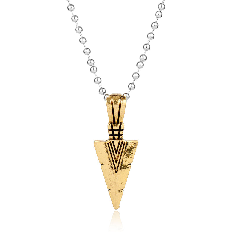 Fashion Hot 1PC Men's Alloy Arrow Necklaces Pendant Necklace Long Chain Silver Gold Jewelry Punk