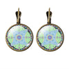 Mandala Flower Glass Cabochon Earrings Women Jewelry Om Symbol Yoga Pending Earrings Vintage Stud Earrings Online Shopping India