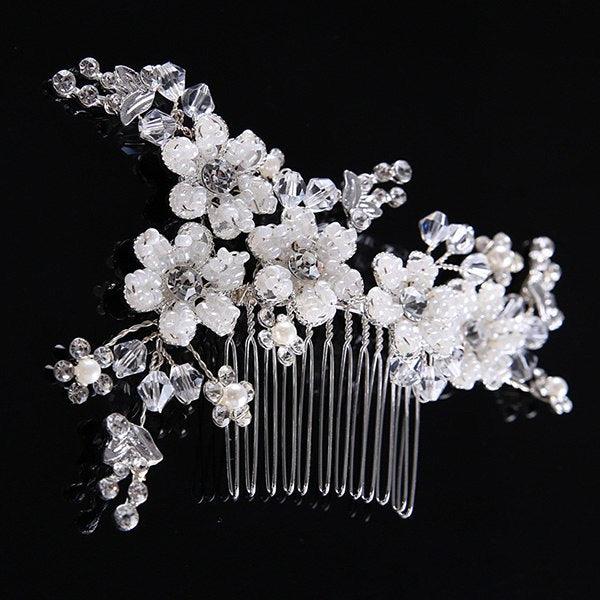 Many Style Silver Pearl Rhinestones Wedding Hair Comb For Women Crystal Hair Jewelry Handmade Bride Headdress Hair Accessories