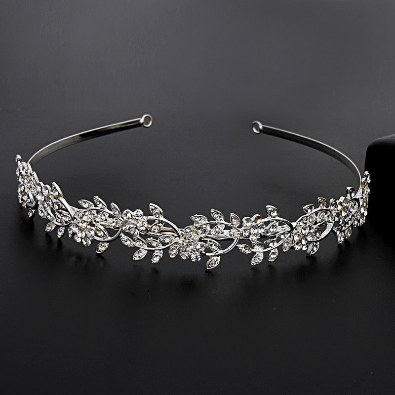 Miallo Bridal Shiny Crystal Hair Tiara Wedding Rhinestone Crown Wedding Tiaras Brides Princess Jewelry Rim for Hair for Women