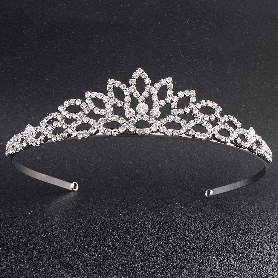 Miallo European Classic Princess Tiaras and Crowns Austrian Crystal Headpieces Wedding Hair Jewelry for Bride Hairstyle