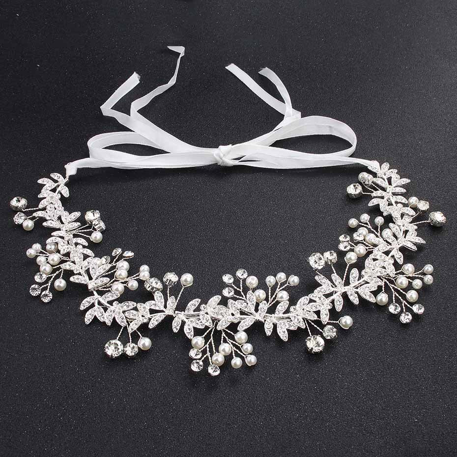 Miallo Wedding Bride Headbands Fashion Gold Color Handmade Head Vine Women Hair Jewelry Headpieces Bride's tiara Hairpieces
