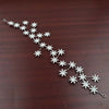 New Elegant Sparkly Crystal Star Tiara Hair Hoop Silver Plated Bride Headdress Rhinestone Hair Jewelry Wedding Accessories T-706
