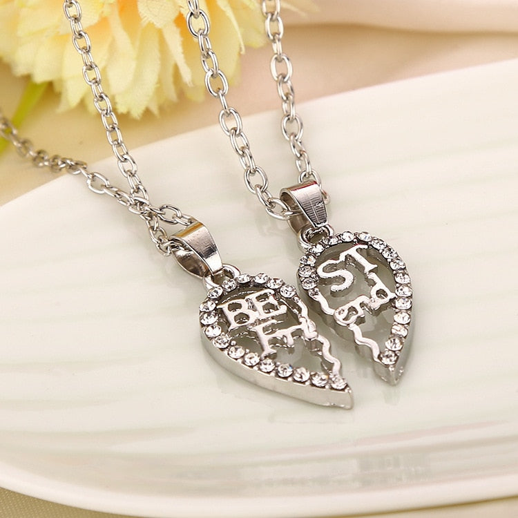 New Hot Broken Heart 2pcs and 3pcs a set Pendant Necklace Best Friend Forever Necklace Jewelry Women Valentine's D Gift