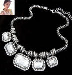 New Statement Choker Vintage Charms Collar Fashion Rhinestone Necklace Crystal Gem Necklaces&Pendants Women Fine Jewelry 450