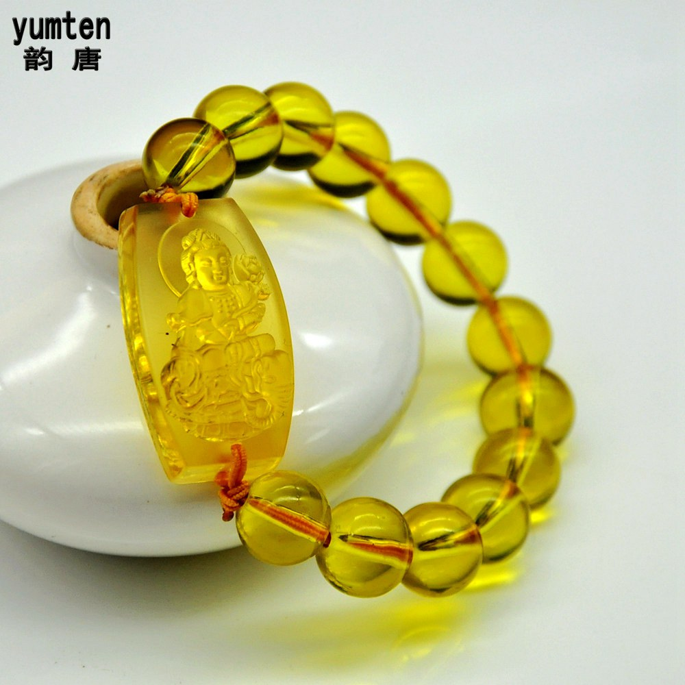 New Zodiac Nature Stone Bouddha Bracelet String Citrine Charms Lot Buddha Men Women Lucky Jewerly Round Beads Chain Best Gift