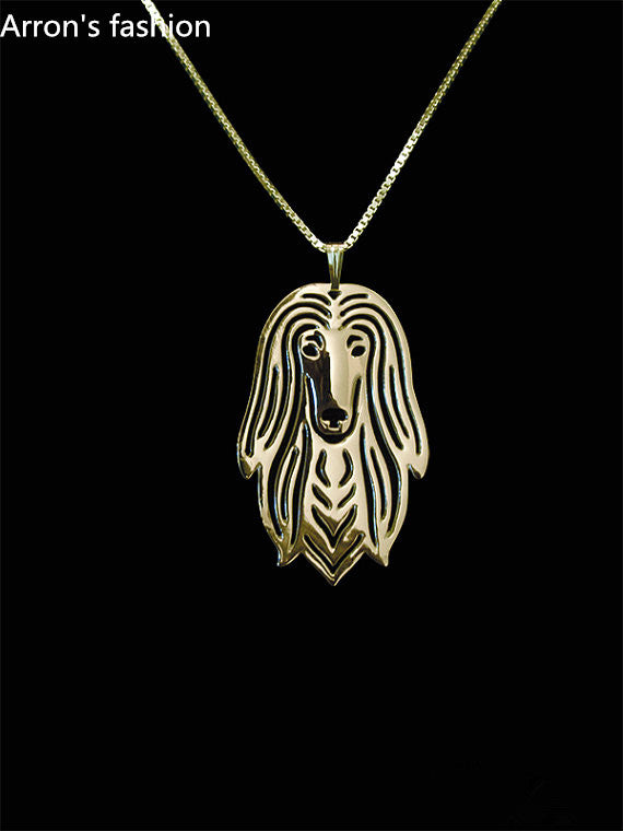 New trendy Afghan Hound dog jewelry pendant necklace women statement necklace men online shopping india