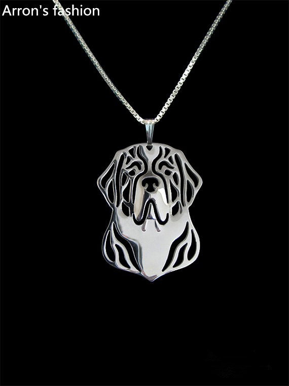 New trendy St. Bernard dog jewelry pendant necklace  plated silver women statement necklace online shopping india