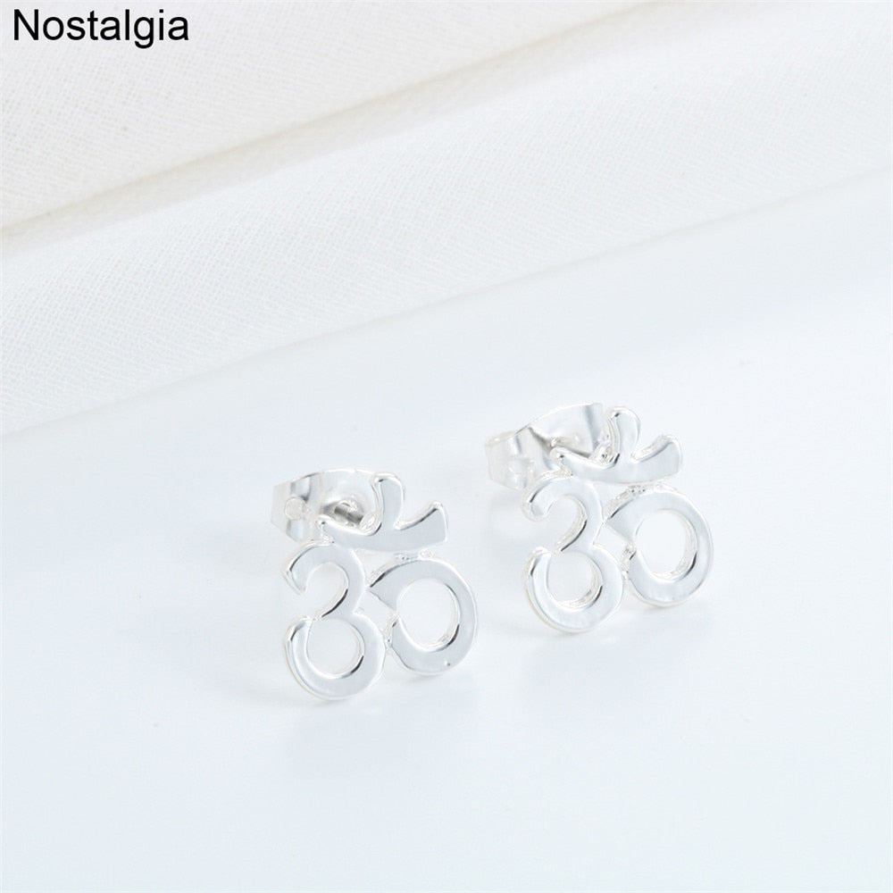 Nostalgia Om Yoga Jewelry Womans Earring Women Accessories Trendy Earrings Online Shopping India