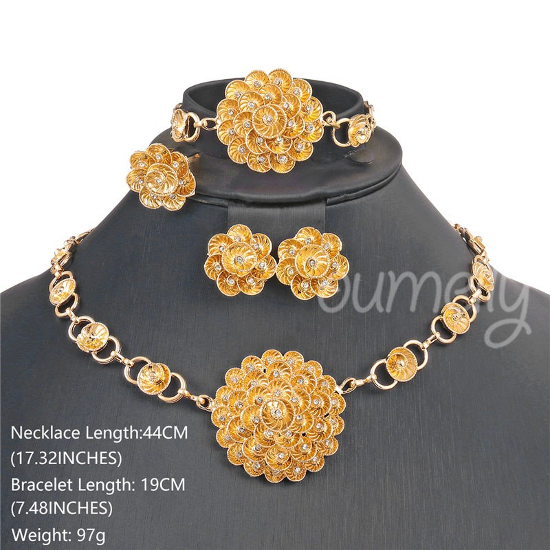 Jewelry Sets Ethiopian Eritrean Gold Color Nigerian Women Wedding Jewelry Sets African Beads Indian Bridal Jewelry Set