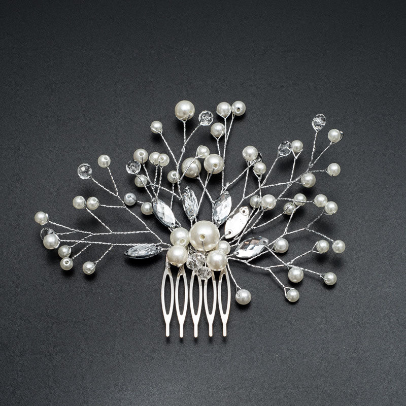 Pearl Hairpin Bridal Hair Comb Wedding Hair Accessories Combs for Hair Ornaments Girl Crystal Clip Women Brides Pin Hair Jewelry