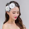 Pearl Wedding Hair Accessories Headdress White Flowers Bride Hair Jewelry Women Bridal Hair Ornaments Diadem SP0111