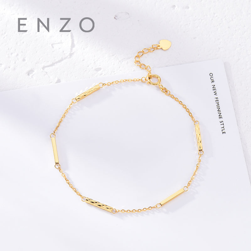 5341ad48d Pure 18K Gold Bracelet For Women Miss Girls Gift Female Fine Jewelry  Genuine Real Solid Chain