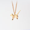 QIHE JEWELRY Gold Silver Tone Alloy Origami Dog Necklace Tiny Chain Necklace Long Chain Necklace  Dog Pendant Pet Memorial