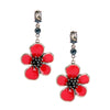 Red Enamel Big Flower Earrings for Women Online Shopping India Piercing Vintage Earrings Jewelry Wholesale